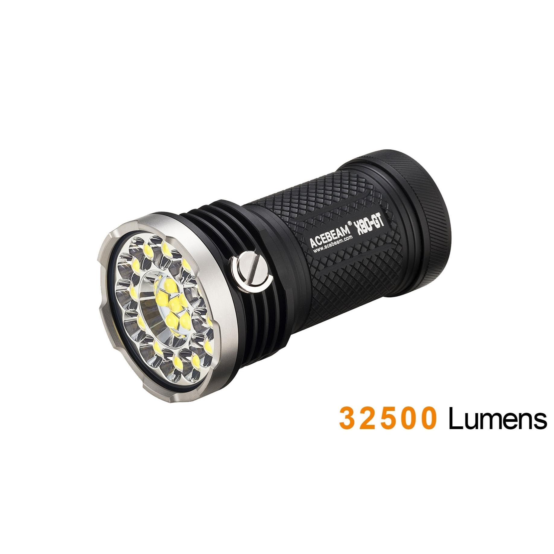 Đèn Pin ACEBEAM X80 GT – 32500 LUMENS – CHỐNG NƯỚC 30M