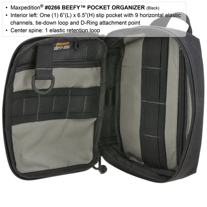 Pouch Maxpedition BEEFY Pocket Organizer – Foliage Green