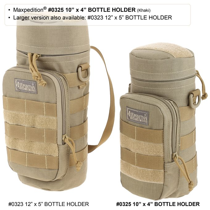 10″ x 4″ Bottle Holder – Khaki