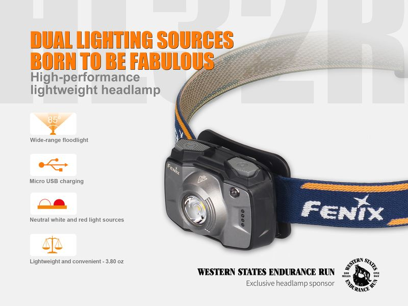 Đèn Pin Đội Đầu Ánh Sáng Vàng Fenix HL32R