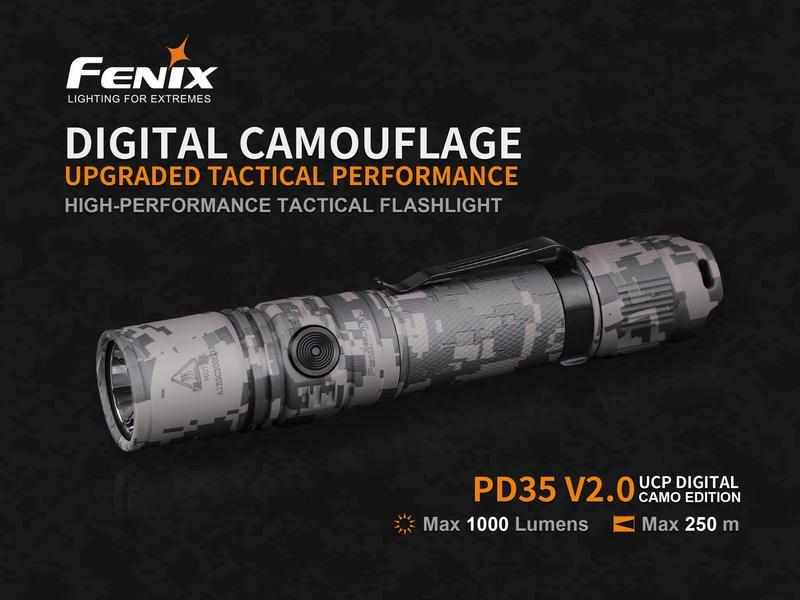 Đèn Pin FENIX – PD35 V2.0 DIGITAL CAMO – 1000 LUMENS