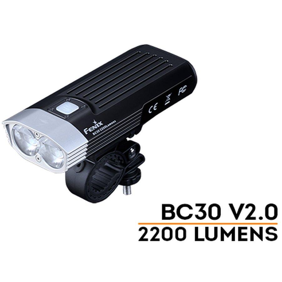 Đèn Pin XE ĐẠP FENIX – BC30 V2.0 – 2200 LUMENS (TẶNG KÈM 2 PIN SẠC FENIX 18650 – 2600MAH)