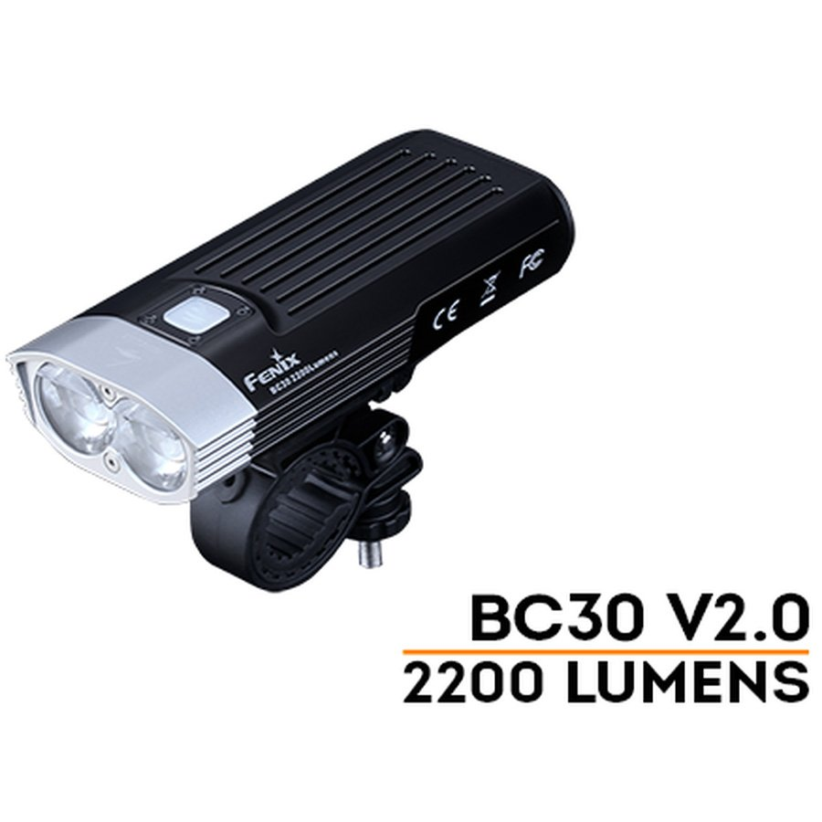 Đèn Pin XE ĐẠP FENIX - BC30 V2.0 - 2200 LUMENS (TẶNG KÈM 2 PIN SẠC FENIX 18650 - 2600MAH)