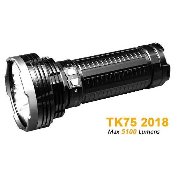 Đèn Pin FENIX – TK75 VERSION 2018 (5100 LUMENS) KÈM 4 PIN SẠC 18650