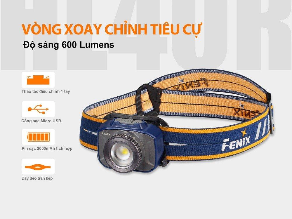 Đèn Pin ĐỘI ĐẦU FENIX HL40R