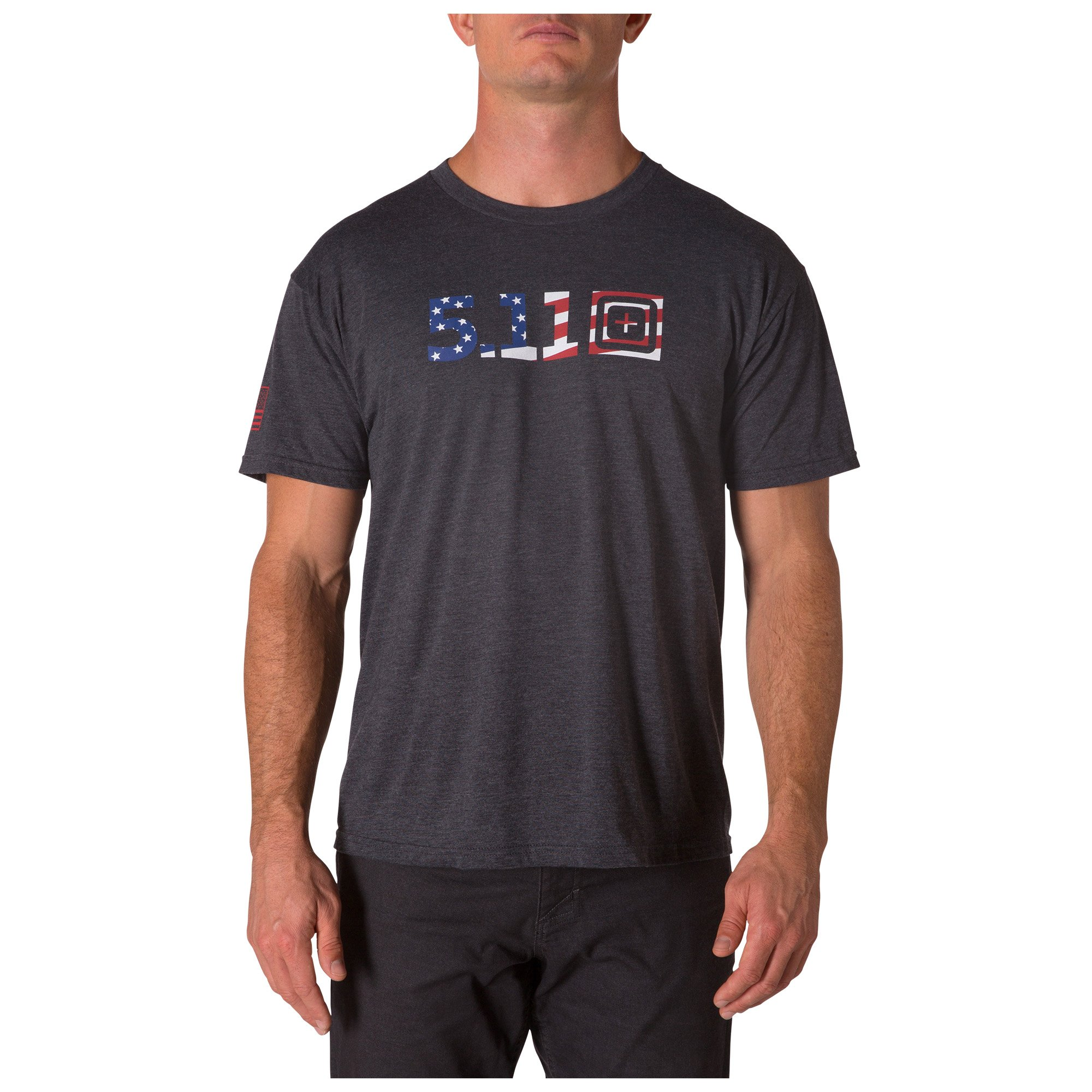 LEGACY USA FLAG FILL – CHARCOAL HEATHER