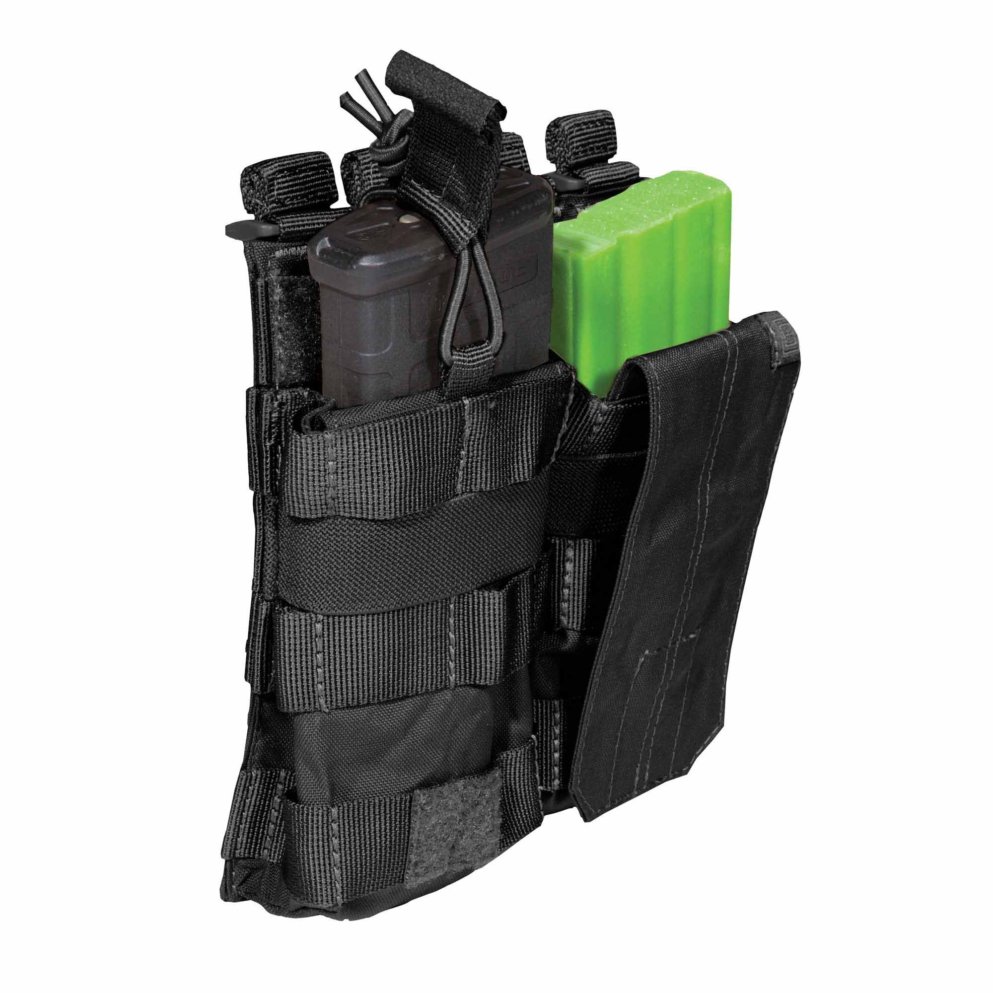 Pouch DOUBLE AR BUNGEE/COVER – Black