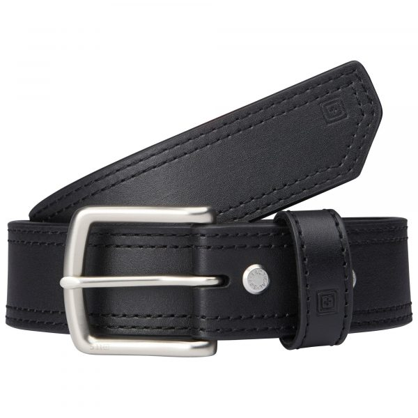 1.5″ ARC LEATHER BELT – Black