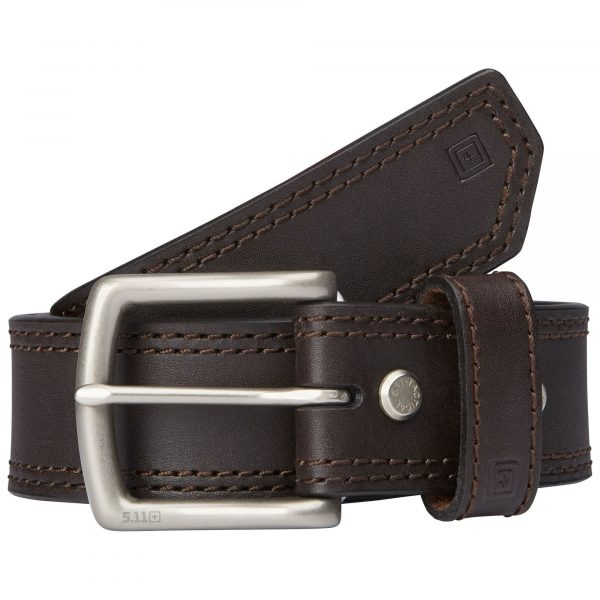 1.5″ ARC LEATHER BELT – Brown