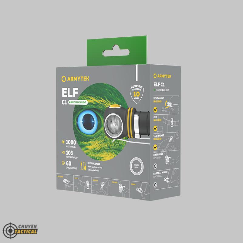 Đèn Pin Đội Đầu ARMYTEK ELF C1 2021 Version – Sáng Trắng