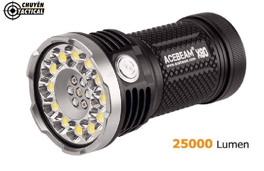 Đèn pin acebeam x80 được trang bị 12 màu LED