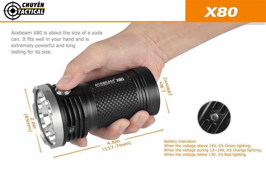 Đèn pin màu ACEBEAM X80