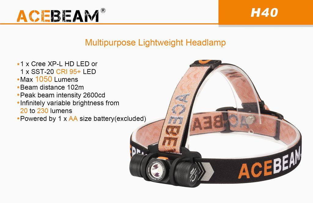 Đèn Pin Đội Đầu ACEBEAM H40