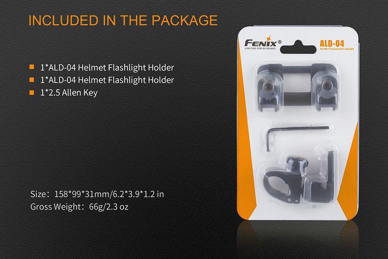 Phụ kiện Fenix – ALD-04 – Gá gắn đèn pin vào mũ bảo hiểm