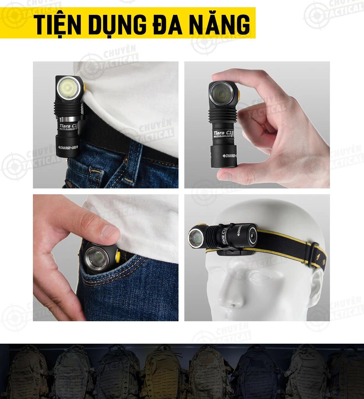Công dụng đèn pin Armytek tiara c1