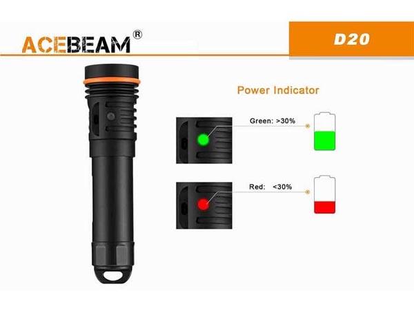 đèn pin lặn acebeam D20