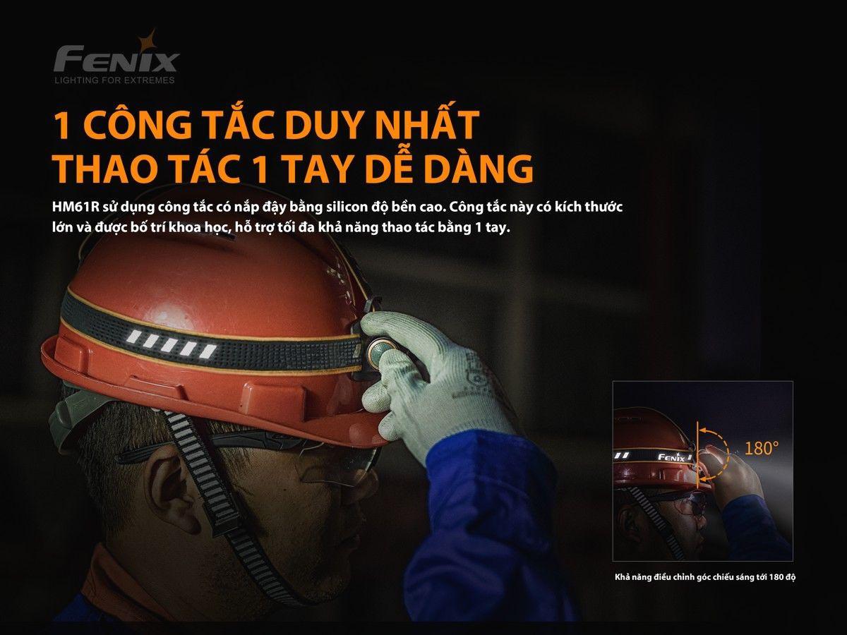 Đèn Pin Đeo Trán Fenix HM61R