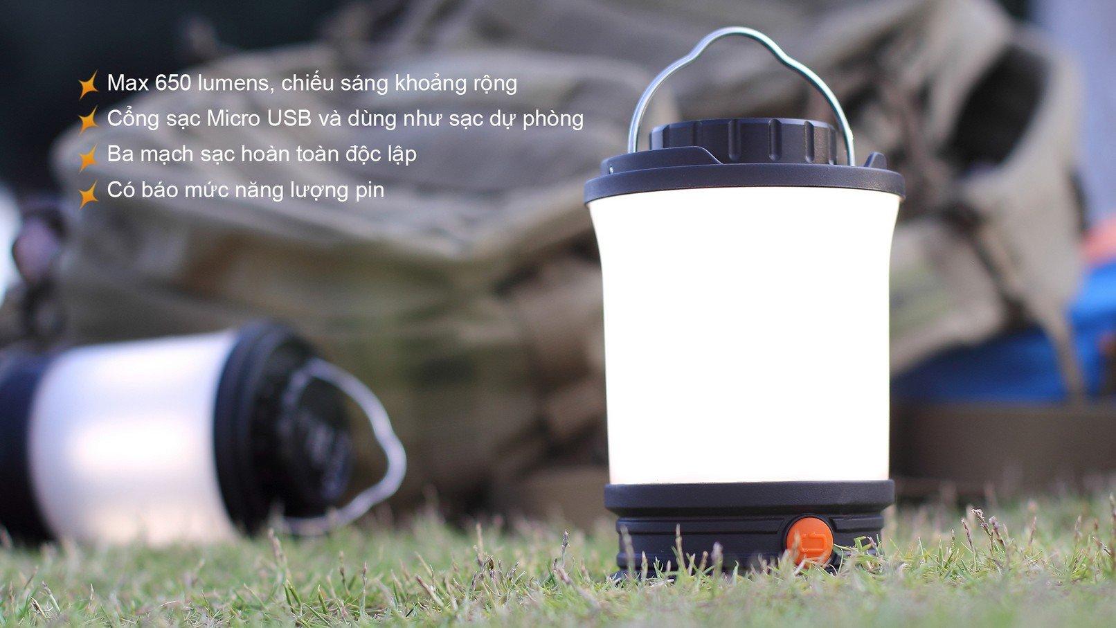 Đèn Pin Cắm Trại FENIX CL30R