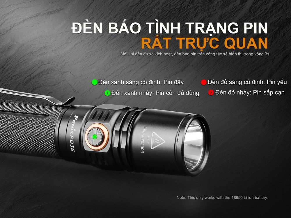 Đèn Pin FENIX – PD35 V2.0 – 1000 LUMENS