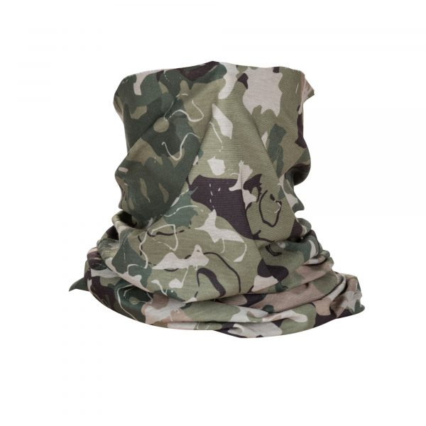 HALO NECK GAITER – Military Green Camo