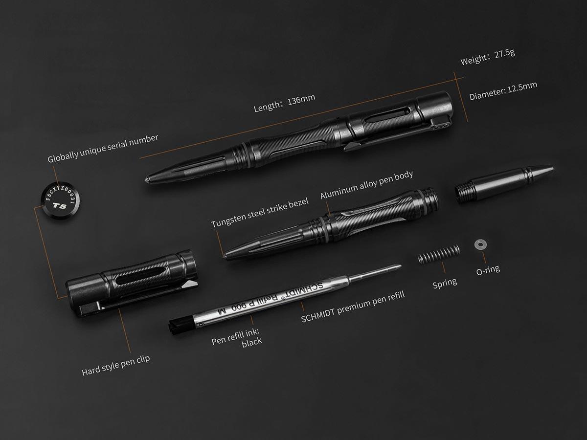 Bút bi Fenix T5 Halberd Aluminum Alloy Tactical Pen
