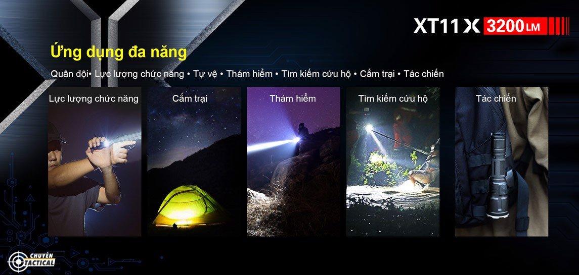 Công năng của đèn pin klarus xt11gt