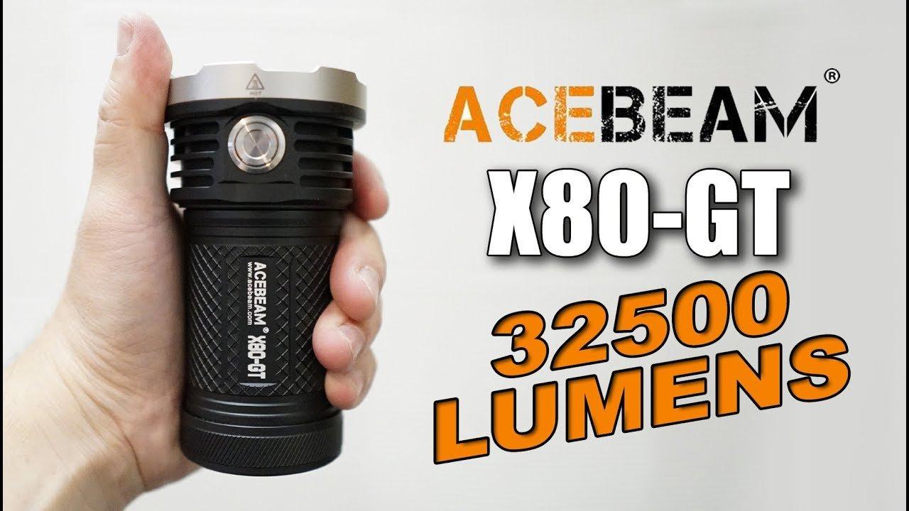 Đèn Pin ACEBEAM X80 GT – 32500 LUMENS – 30M