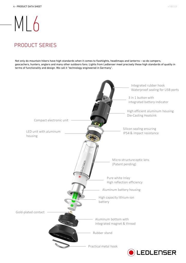 Đèn Pin CẮM TRẠI LEDLENSER ML6