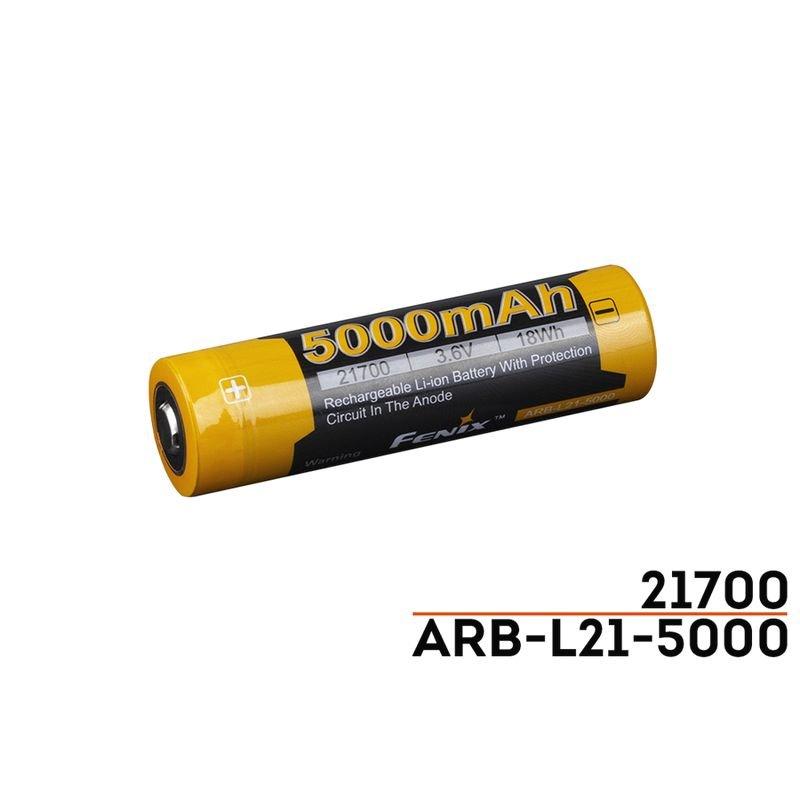 (01 VIÊN) Pin Sạc FENIX 21700 - ARB - L21-5000 - 5000 mAh