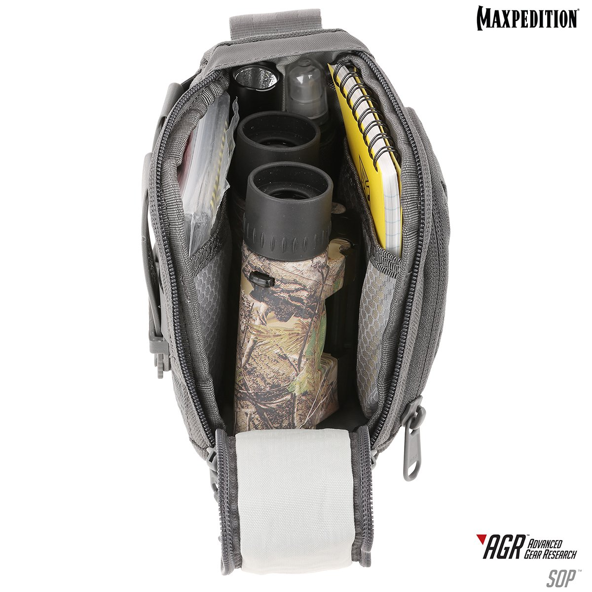 Maxpedition SOP Side Opening Pouch _ Gray