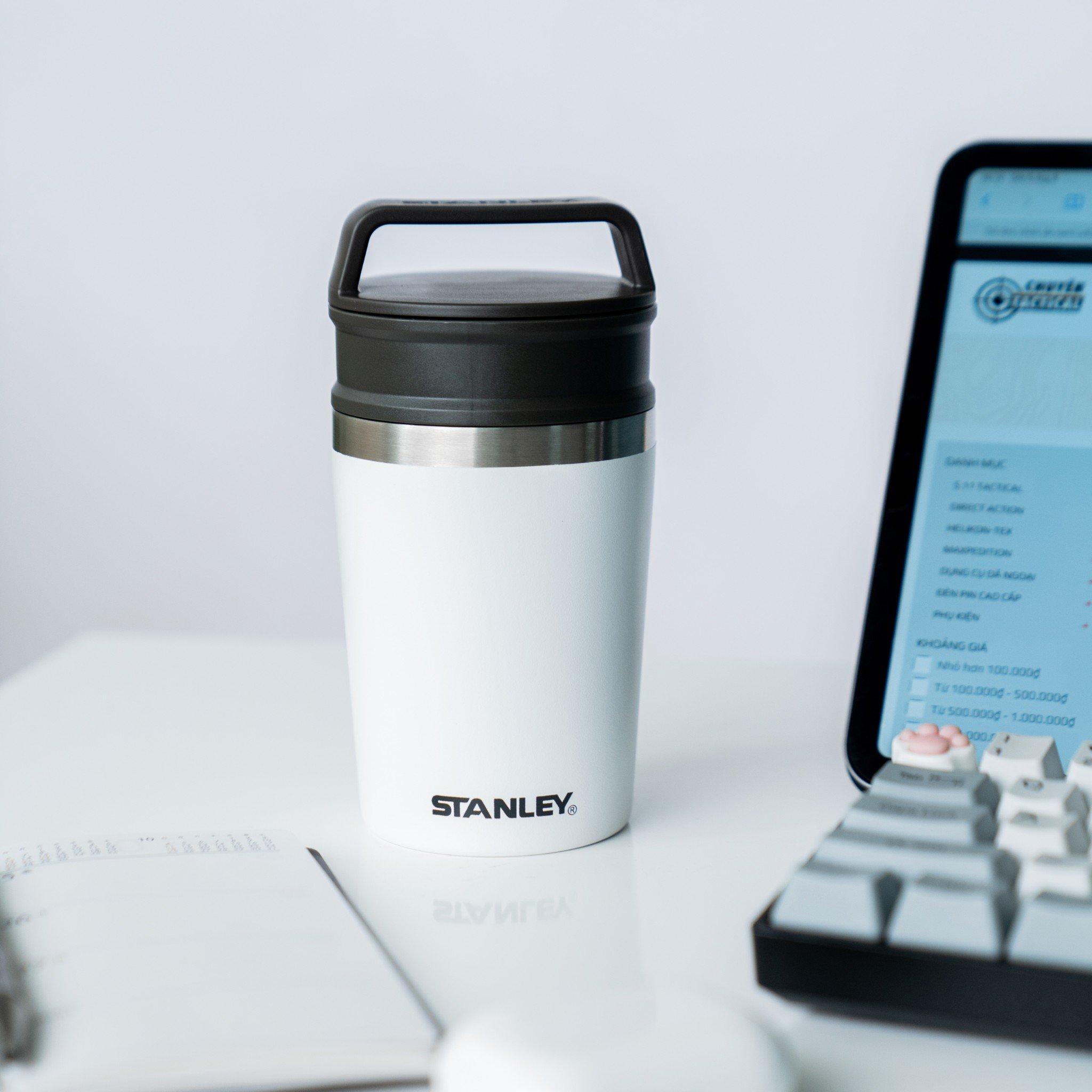 Bình giữ nhiệt Stanley Adventure Shortstack Travel Mug – White