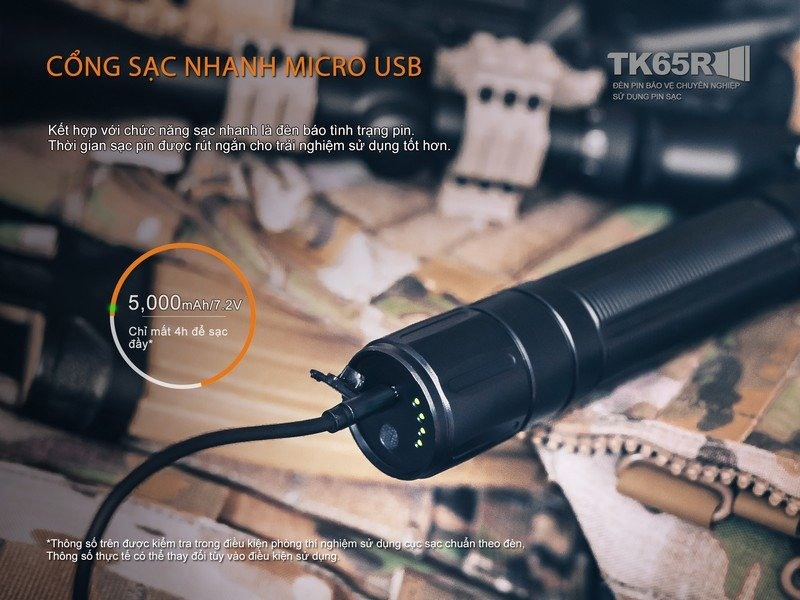 Đèn Pin FENIX TK65R – 2017 Version