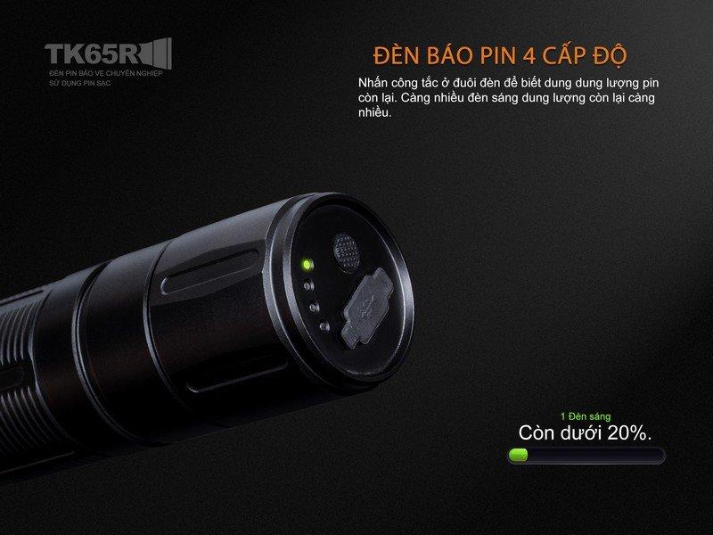 Đèn Pin FENIX – TK65R – 3200 LUMEN (2017 EDITION)