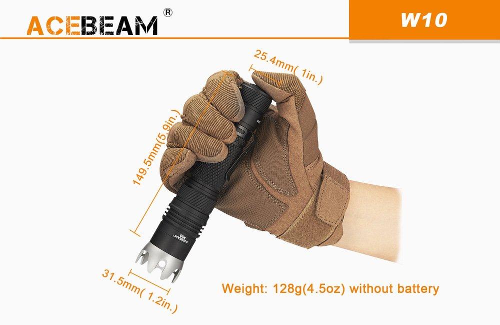 Đèn Pin Siêu Sáng ACEBEAM W10 GEN 2 LEP 450 CHIẾU XA 1217M
