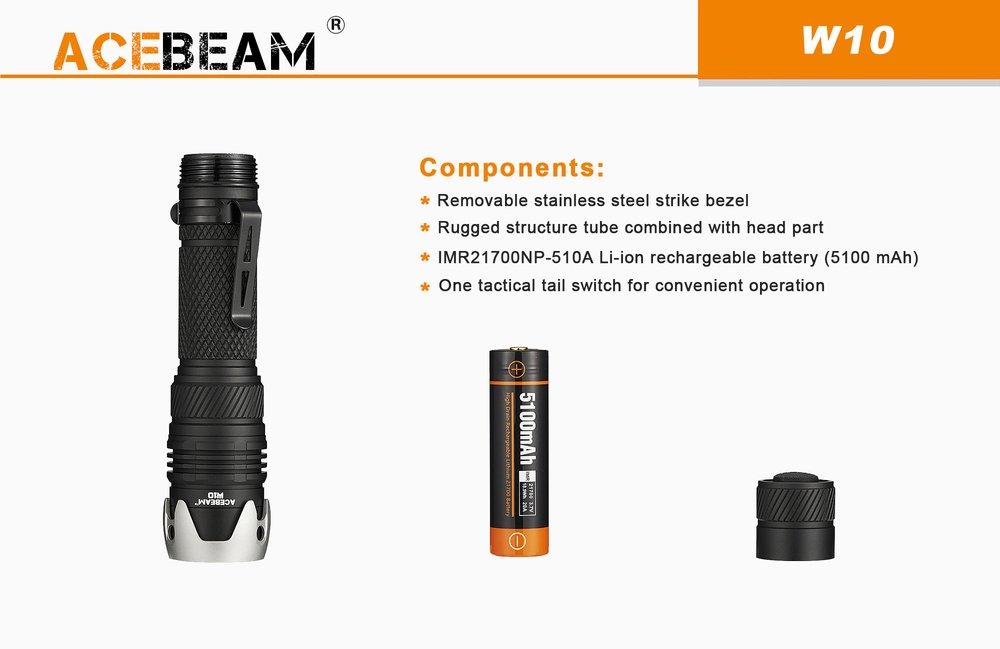 ACEBEAM W10 GEN 2 LEP 450 CHIẾU XA 1217M