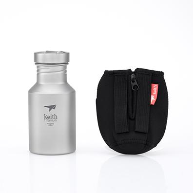 KEITH TI3030 – Bình Titanium 400ml Kèm Bao Vải