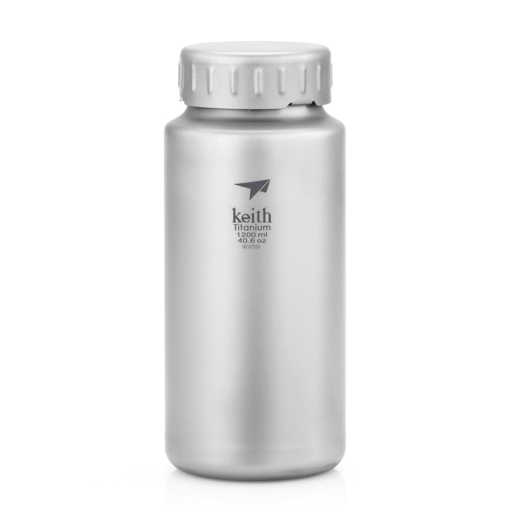 KEITH TI3036 – Bình Titanium 1200ml  Không Ren + Bao và Dây Đeo