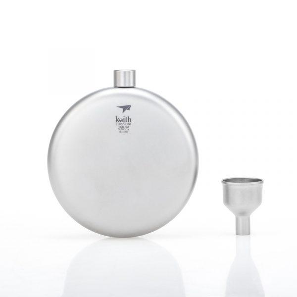 KEITH TI9302 – Bình Đựng Rượu Titanium Roud Flask