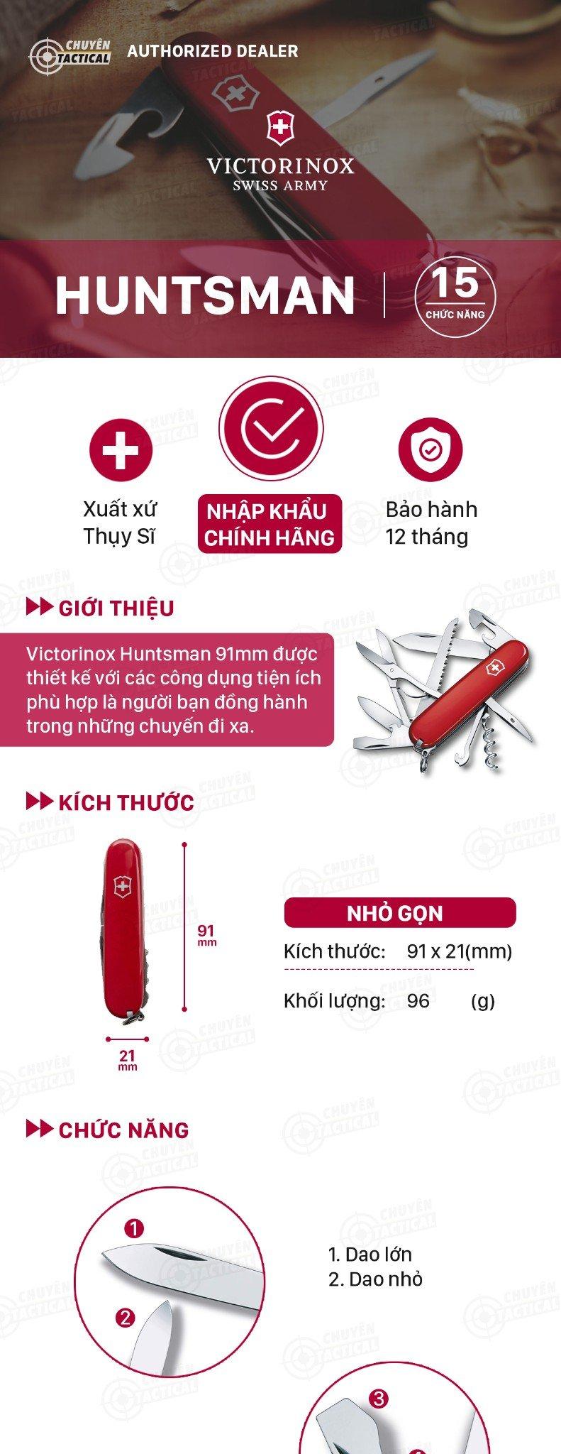 Victorinox Huntsman 91mm (Red) #1.3713