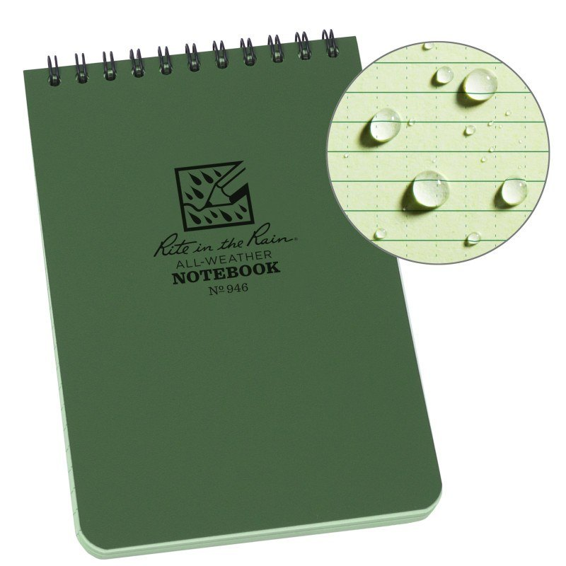 4 X 6 NOTEBOOK - GREEN