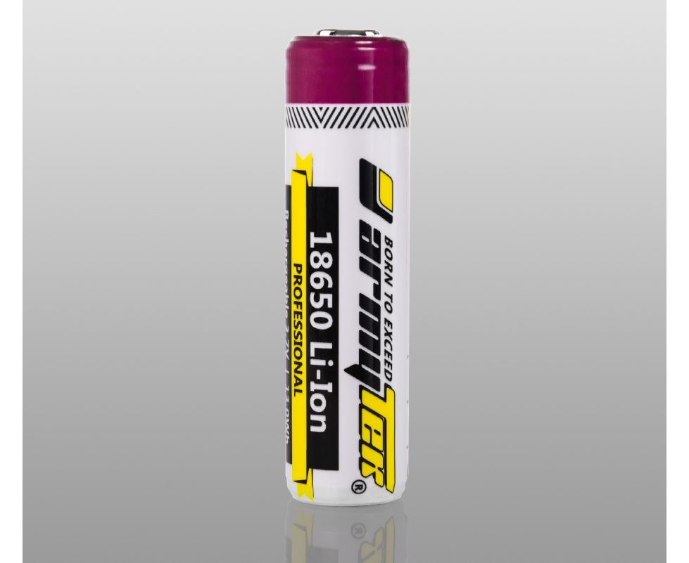 ARMYTEK 18650 LI-ION RECHARGEABLE PROTECTED BATTERY 3500 MAH