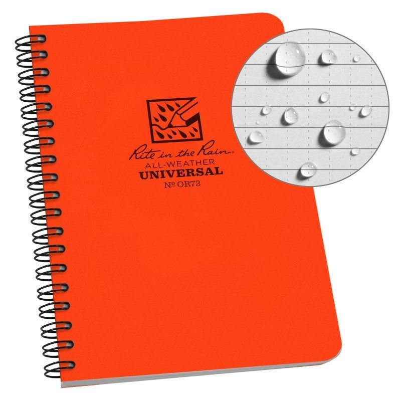 SPIRAL NOTEBOOK – UNIVERSAL – ORANAGE