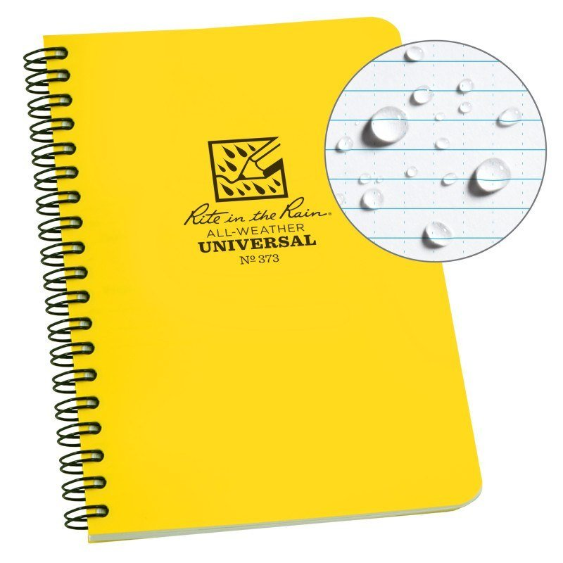 SPIRAL NOTEBOOK - UNIVERSAL - YELLOW