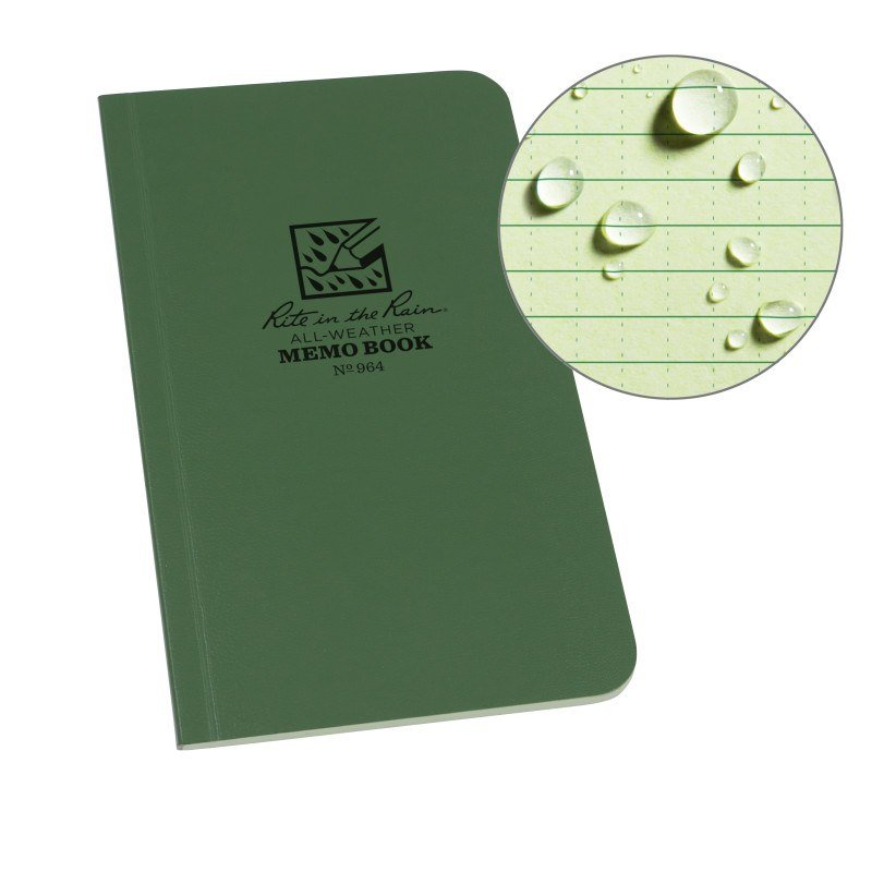 FIELD FLEX MEMO BOOK – UNIVERSAL – GREEN