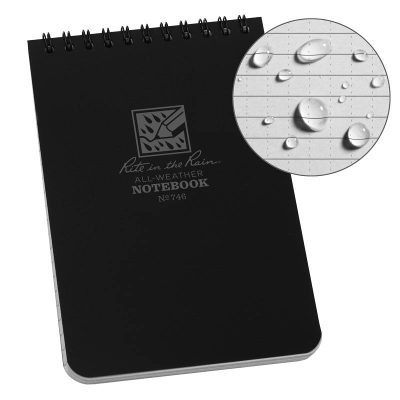 4 X 6 NOTEBOOK - BLACK