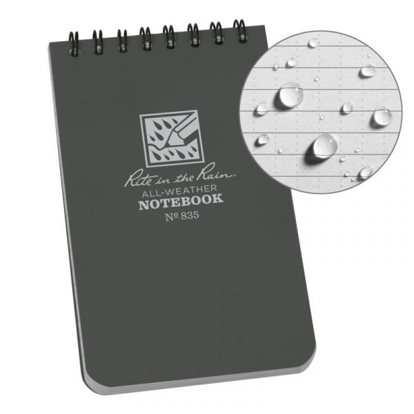 Sổ Tay Rite In The Rain 3×5 TOP SPIRAL NOTEBOOK- Gray