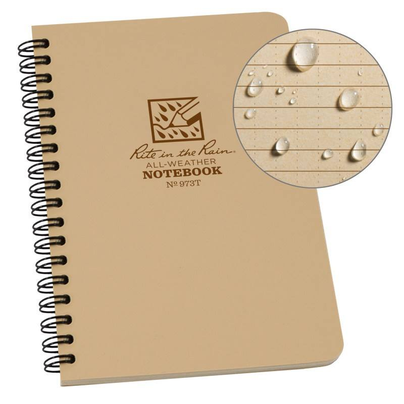 SPIRAL NOTEBOOK - UNIVERSAL - TAN