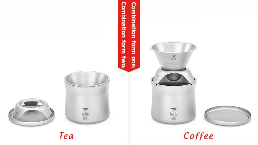 KEITH TI3911 TITANIUM MINI COFFEE AND TEA MAKER