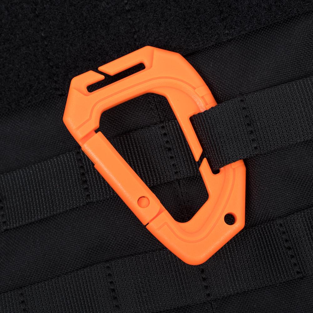 Molle Plastic Carabiner – Orange