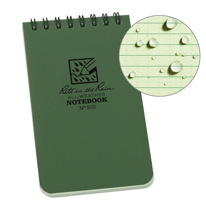Sổ Tay Rite In The Rain 3×5 TOP SPIRAL NOTEBOOK – Green